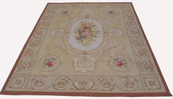Handknotted European Savonnerie rugs/Handwoven French Aubusson flat weave rugs/Handstitched wool needlepoint rugs