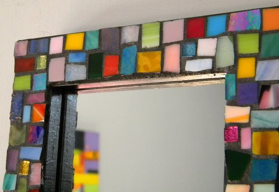 MOSAIC Stained Glass Mirror - Jewel Colors
