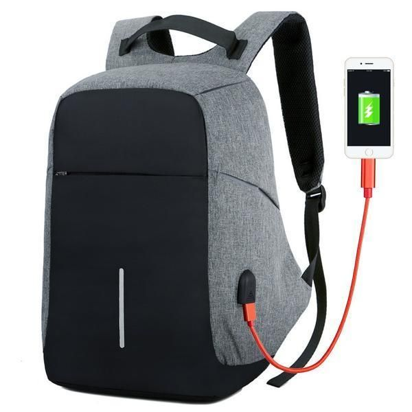 """Business Multi-function Waterproof Men/'s 15.6/"""" Laptop Backpack with Usb Charging"""
