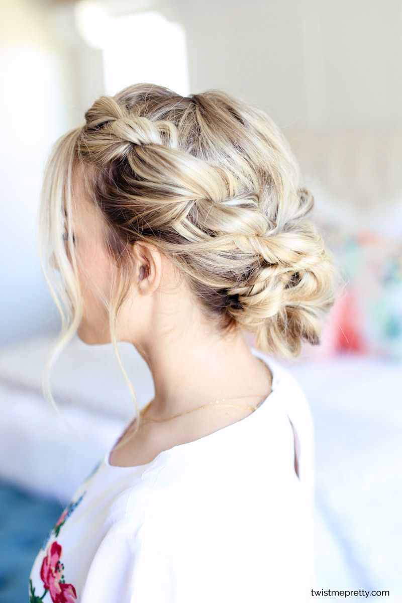 Easy Homecoming Updo Twisted Hairstyle Youtube Tutorial