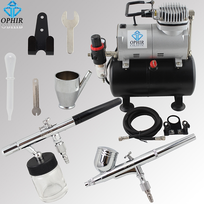 109.24 Watch now OPHIR 2 Airbrush Kits with Air Tank