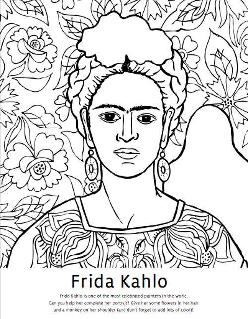 Libro Para Colorear Frida Wish List Frida Kahlo Frida Kahlo