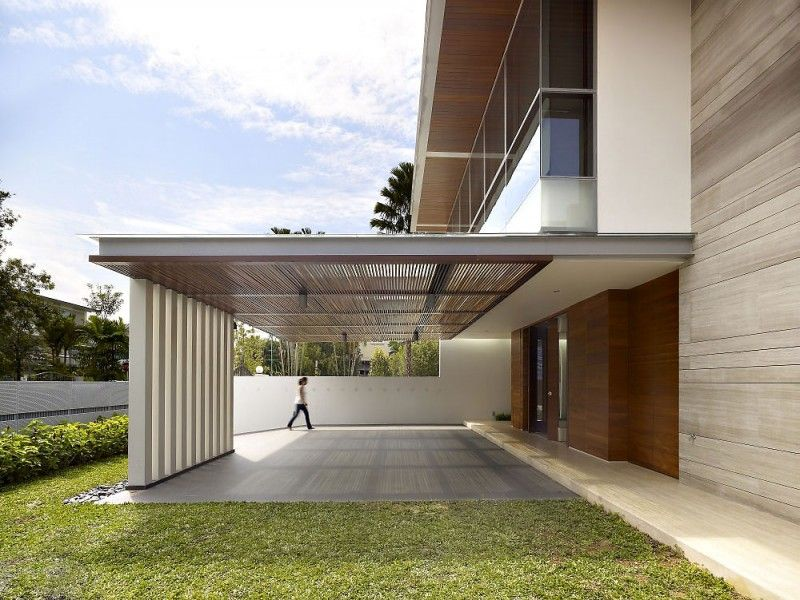 28 west coast grove by ong ong singapore white kitchen for Contemporary carport design architecture