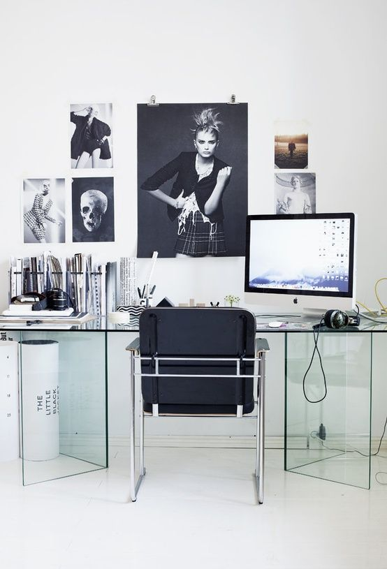 Black, White And Glass | Offices And Creative Spaces | Pinterest | Desks,  Office Spaces And Glass
