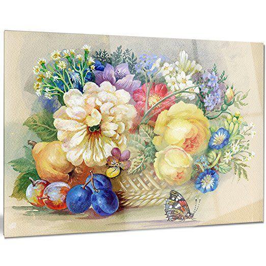 Metal Flower Wall Art -Floral Metal   Metal flower wall art, Floral ...