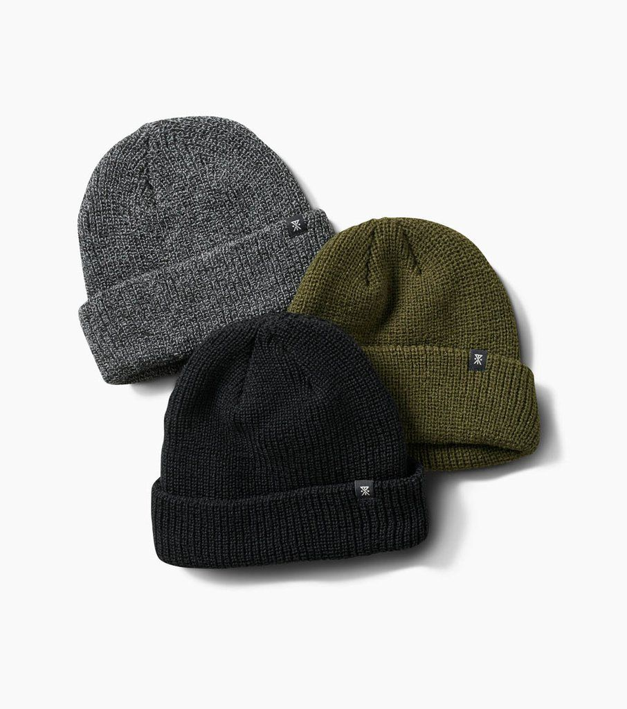 de8abe9a49d8b Shop the Roark Turk s men s beanie at the official Roark Revival online  store. Black Military Heather Grey Tight ribbed knit construction Fold-over  cuff ...