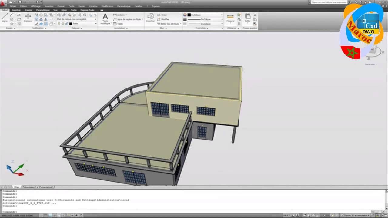 Dessiner Un Plan De Maison Avec Autocad HD