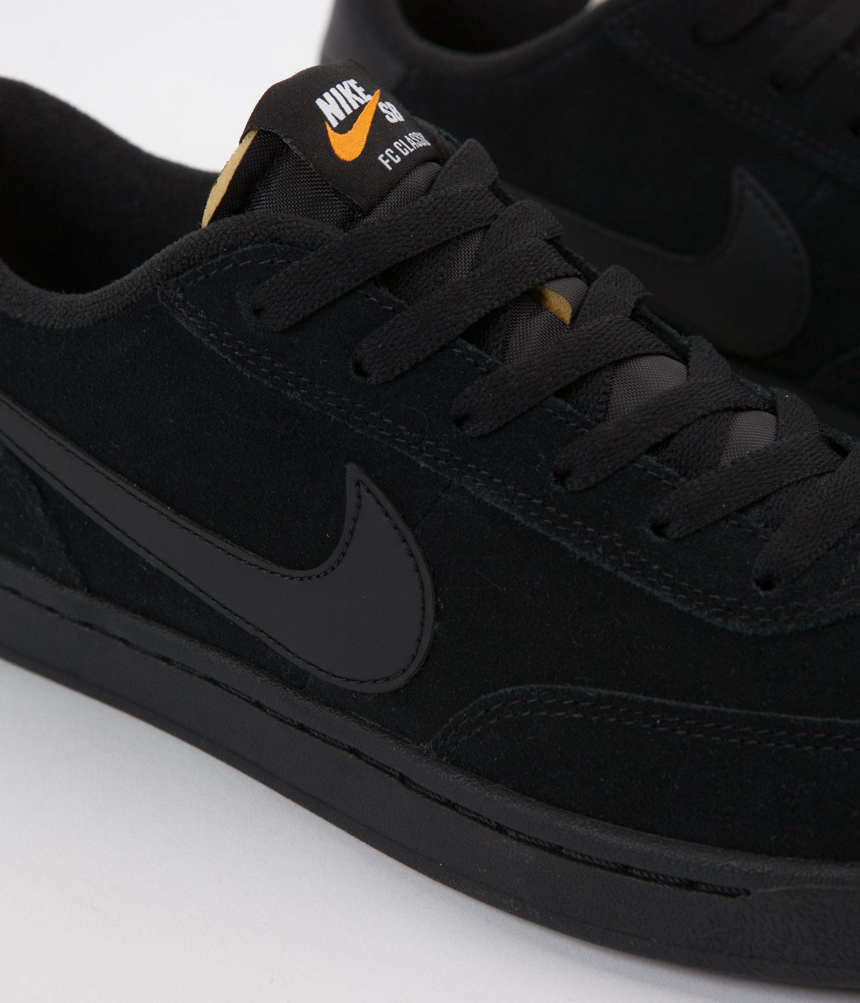 e880891bb700 Nike SB FC Classic Shoes - Black   Black - White - Vivid Orange