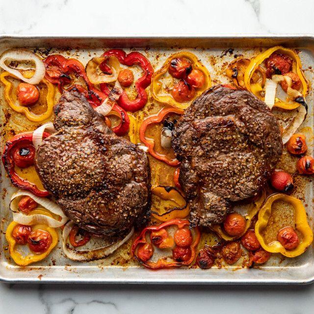 Steak Sheet Pan Supper