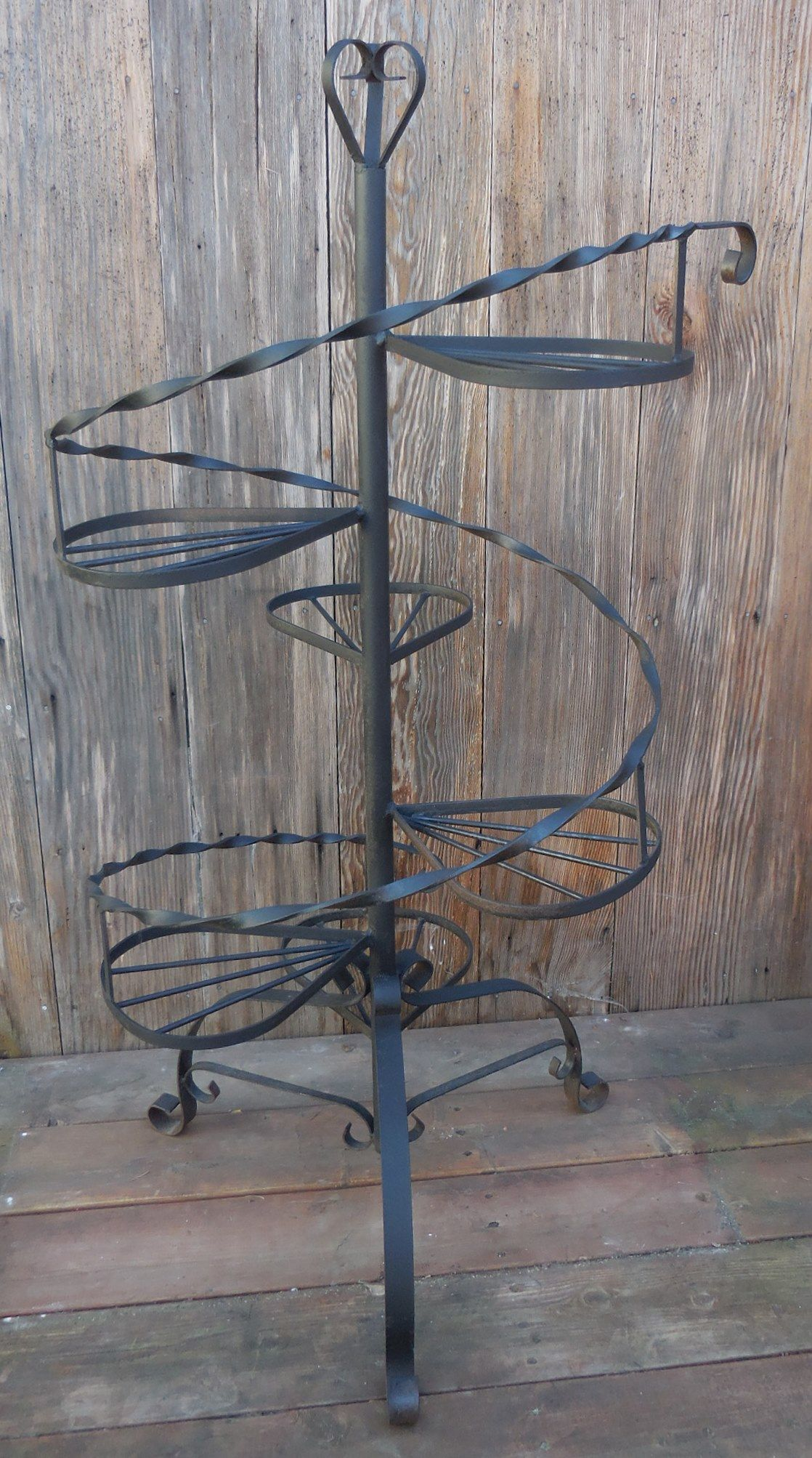 6 Tier Wrought Iron Plant Stand With Images Iron Plant Stand