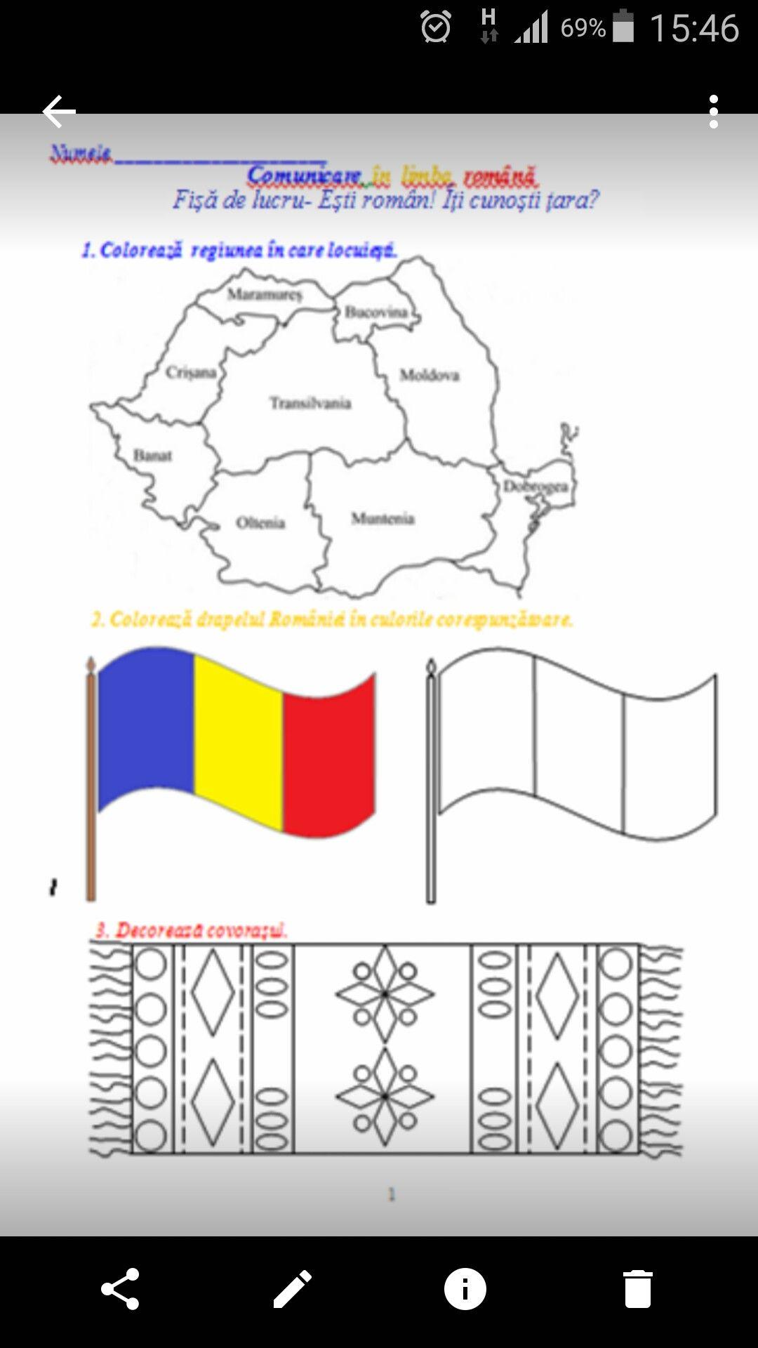 De Colorat Pentru Copii De 1 Decembrie La Scoala Fise De Lucru Romania Decolorat