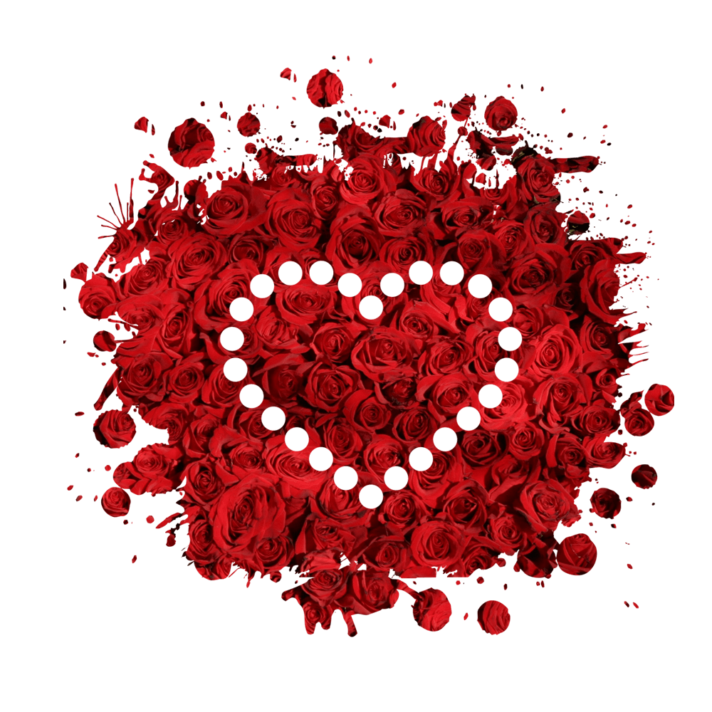 Free download high quality floral heart png image