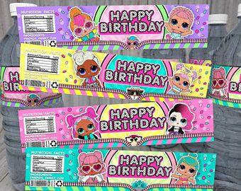 Lol Surprise Dolls Water Bottle Labels Lol Birthday Lol Birthday