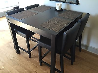 Bar dining table with 4 chairs example Bjursta Henriksdal