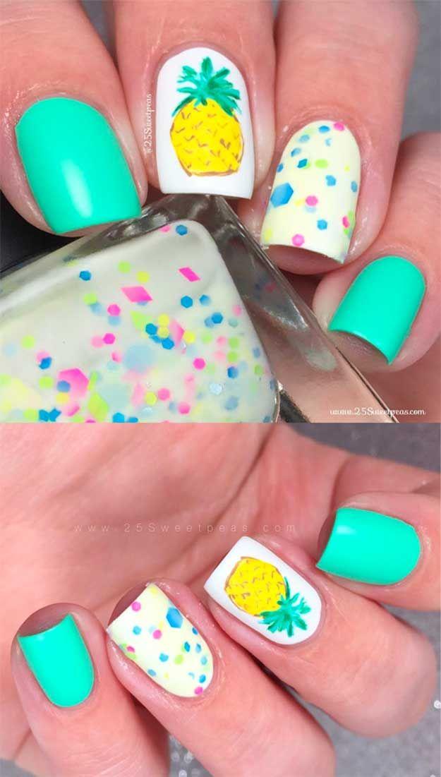 42 Cool Summer Nail Art Ideas | Pinterest | Pineapple ...