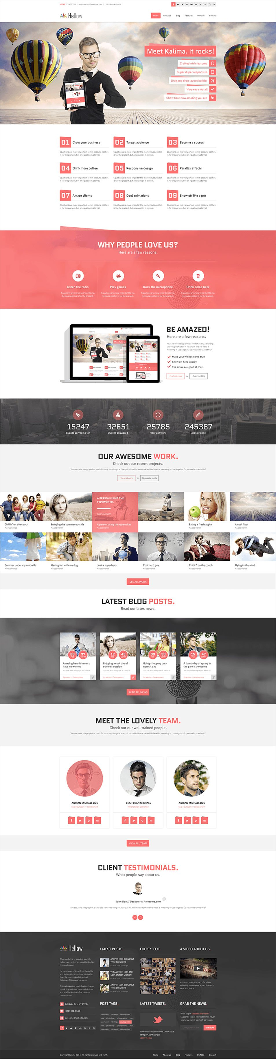 Hellow free psd template web templates pinterest psd templates hellow free psd template flashek Image collections