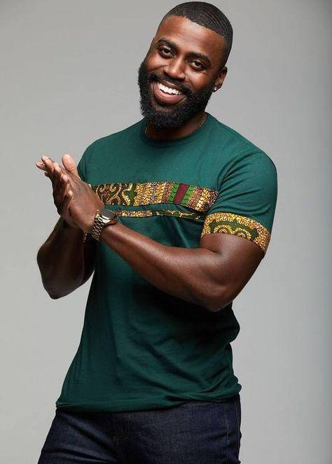 Jaheem African Print Short Sleeve T-shirt (Green Tortoise Back) #afrikanischerdruck