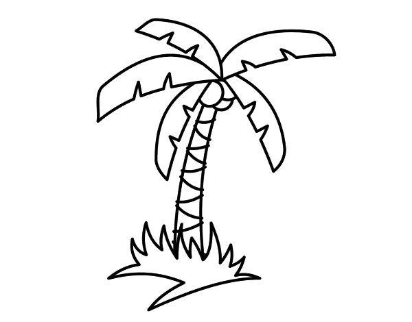 Dibujo Palmeras Buscar Con Google Playa Para Colorear Dibujos Para Colorear Dibujos