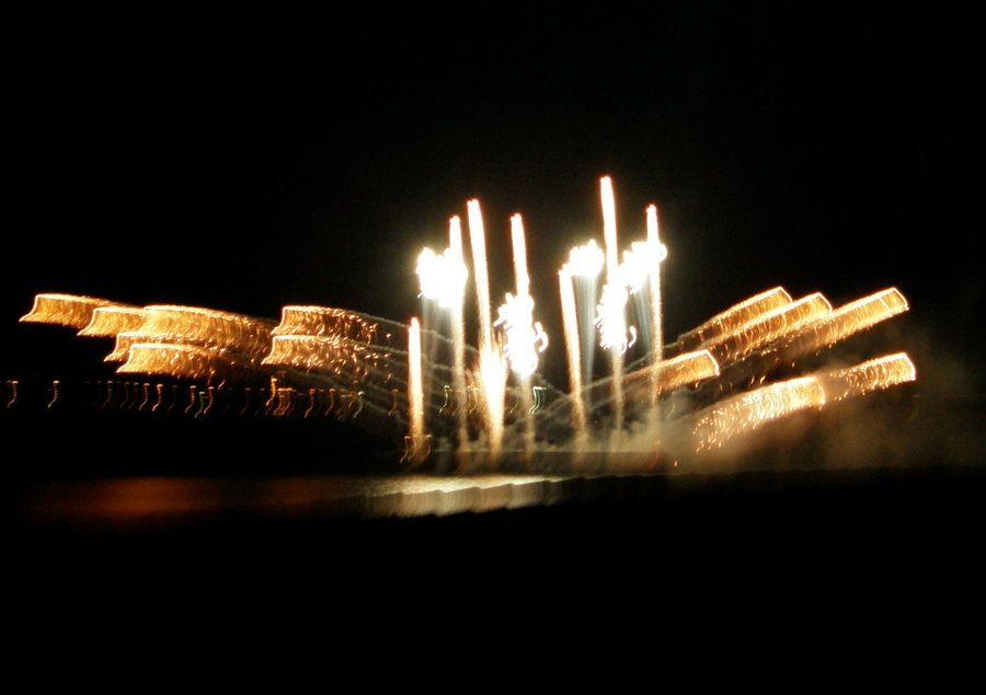 explosão de luz