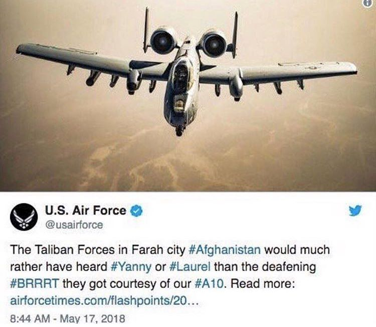 This is a real tweet by the USAF Twitter account, it was