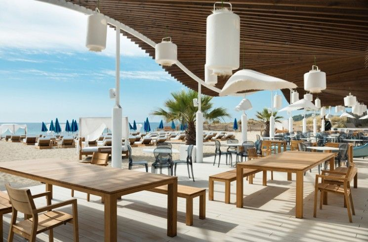 Teak Outdoor Furniture From Tribùu0027s Kos Collection At The Beach Club At  Hard Rock Hotel Ibiza
