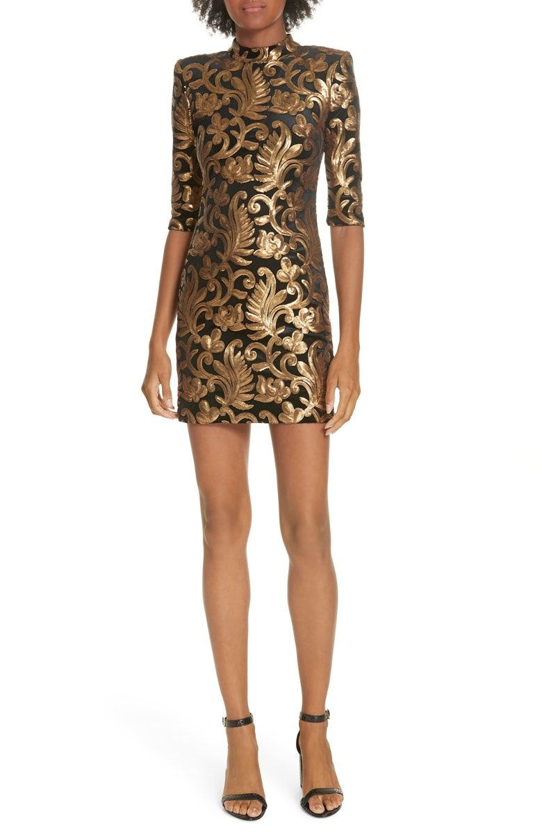 92d308a13c Free shipping and returns on Alice + Olivia Inka Sequin Flora Dress at  Nordstrom.com