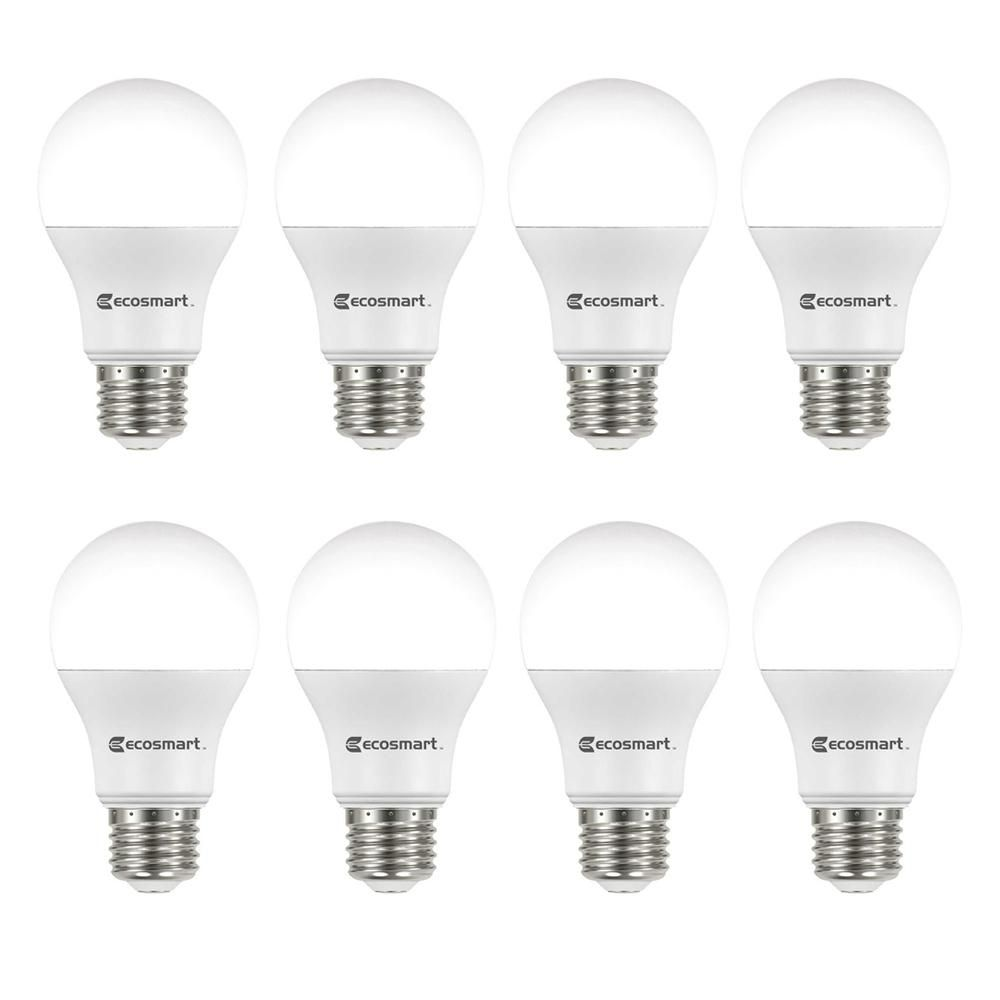 60w Equivalent Soft White A19 Energy Star And Non Dimmable Led Light Bulb 8 Pack Products Light Bulb Dimmable Led Lights Incandescent Light Bulb