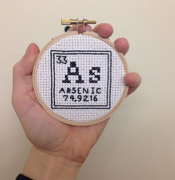 Element 33 Periodic Table Cross Stitch Arsenic Science Wall Decor