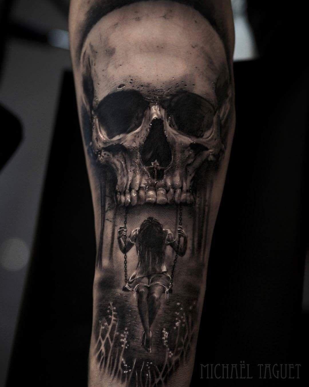 4b5e85c21 Scary Tattoos, Badass Tattoos, Life Tattoos, Body Art Tattoos, Skull Sleeve  Tattoos