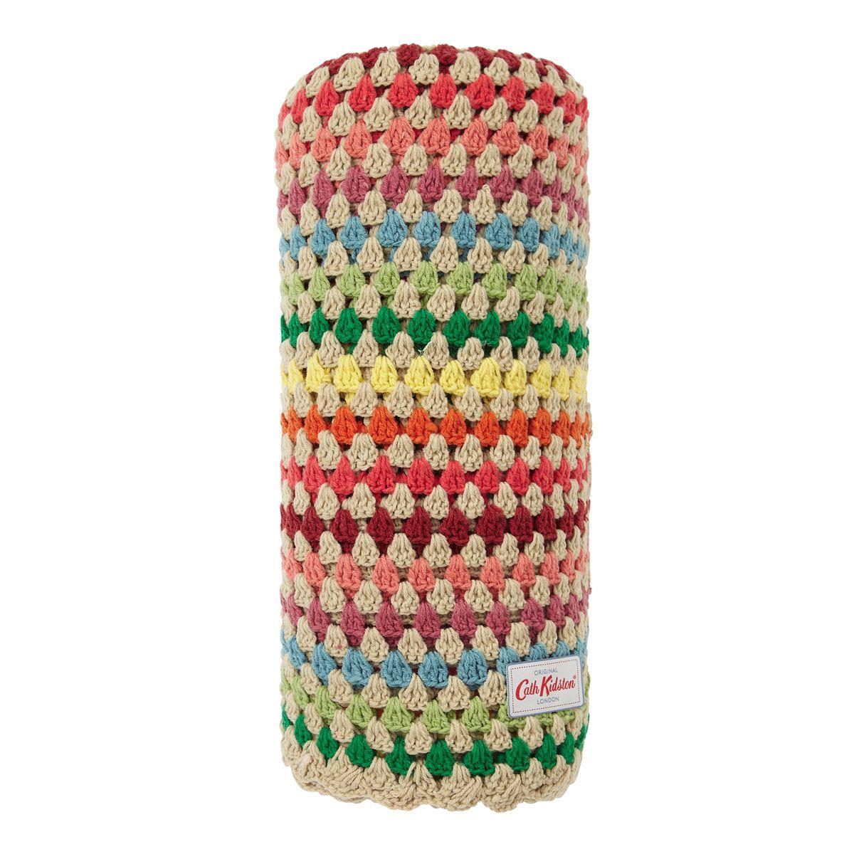 New Home | Stripe Crochet Throw | CathKidston