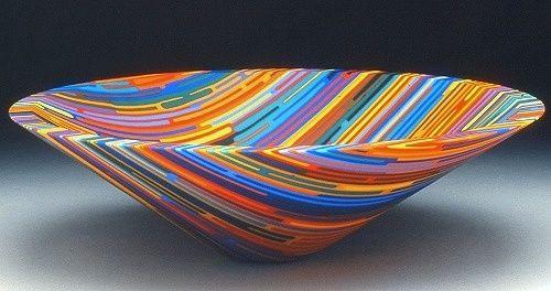 Fused glass rainbow bowl by artist Martin Krememer http://www.homeworkshop.com/wp-content/uploads/2009/03/martin-kremer-rainbow-bowl.jpg