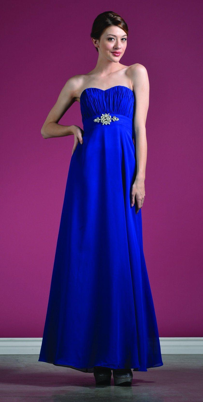 Hermosa Vestidos Cortos De Dama De Honor Azul Royal Patrón - Ideas ...
