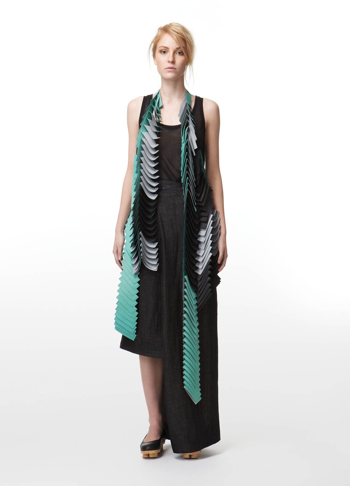 SAARA LEPOKORPI / Leather Strip Vest   Acolyth