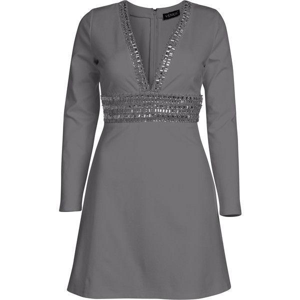 a83dc067be32 Venus Women s Plus Size Deep V Trim Cocktail Dress ( 54) ❤ liked on Polyvore