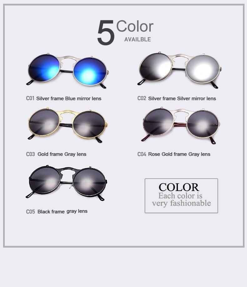 VINTAGE STEAMPUNK Sunglasses Round Designer Steam Punk
