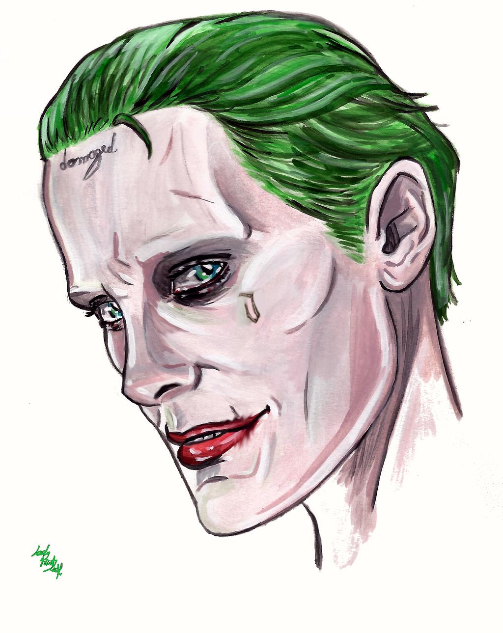 Joker Face Paint Suicide Squad : joker, paint, suicide, squad