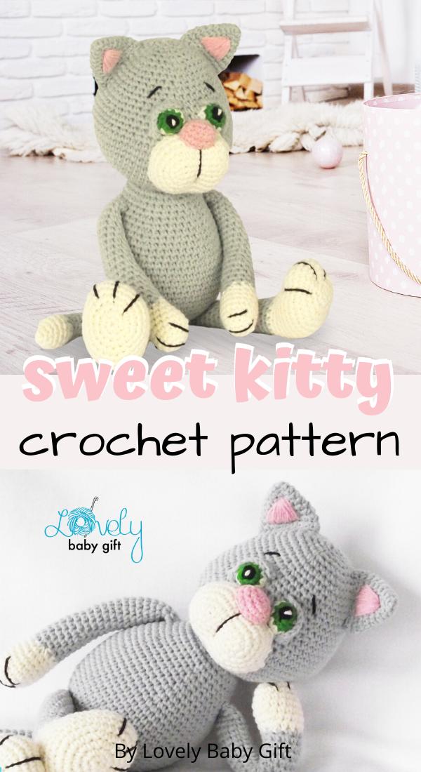 Cat Amigurumi Tutorial | Beginner Crochet | Kitty Mod Free Pattern ... | 1100x600