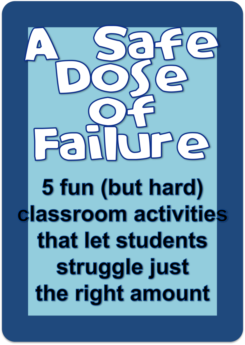a safe dose of failure | Middle School ELA Resources | Pinterest ...