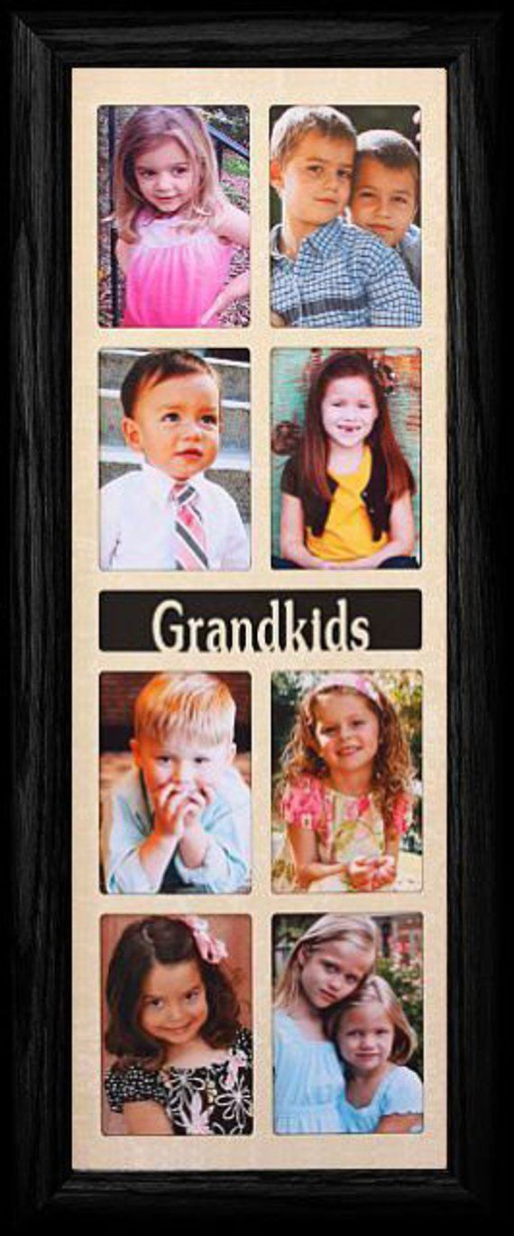 5x14 ~ GRANDKIDS Picture Frame ~ Holds 8-2x3 wallet Photos