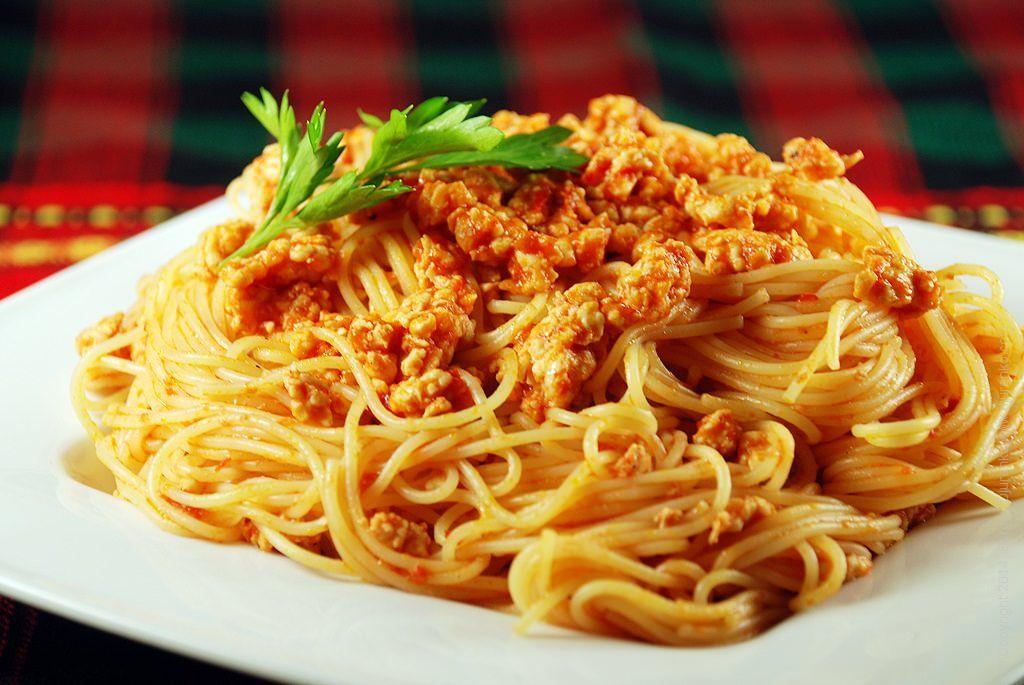 Республики, открытка со спагетти
