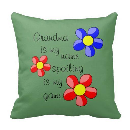 Green Grandparent / Grandchildren Quote Pillow | Zazzle.com #grandchildrenquotes