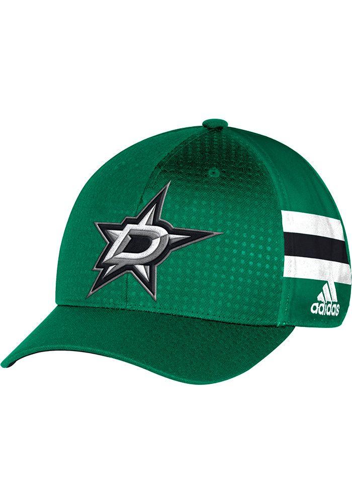 70bcc80f20 Adidas Dallas Stars Mens Green 2017 Draft Flex Hat - 14854948 in ...