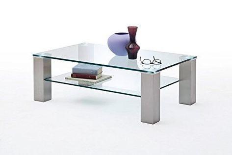 Wohnzimmertisch Glasplatte ~ Wohnzimmertisch sofatisch kaffeetisch glastisch glas metall