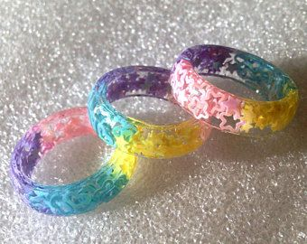 Set of 2 Multi Colored Jewels Car Coasters Handmade from Resin