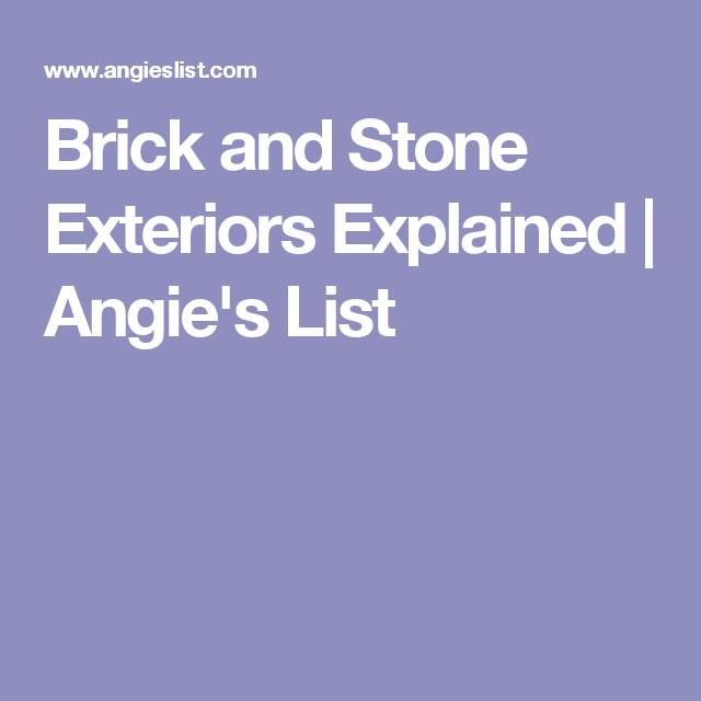 Brick and Stone Exteriors Explained  | Angie's List