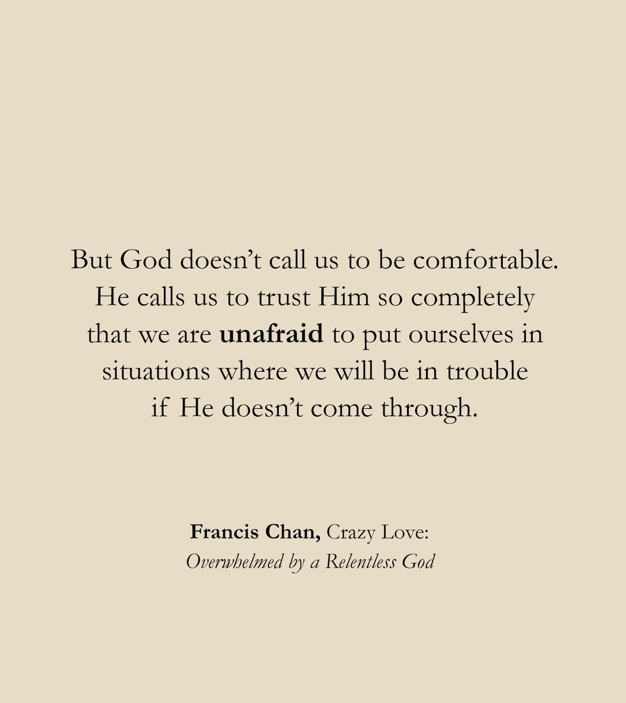 Fully Known & Fully Loved