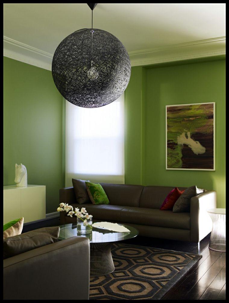 Sala De Estar Con Paredes Verdes In 2019 Green Interior
