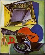 Nature morte à la guitare        Pablo Picasso