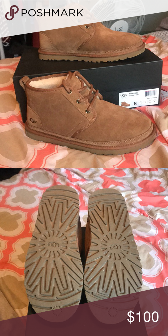 acd09eaec07a UGGS NEUMEL BOOTS CHESTNUT (never worn) Chestnut authentic UGG booties   NEVER WORN!  US men size 8 or women s size 10 UGG Shoes Winter   Rain Boots