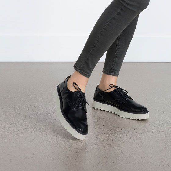 Image 2 of PLATFORM BLUCHERS from Zara